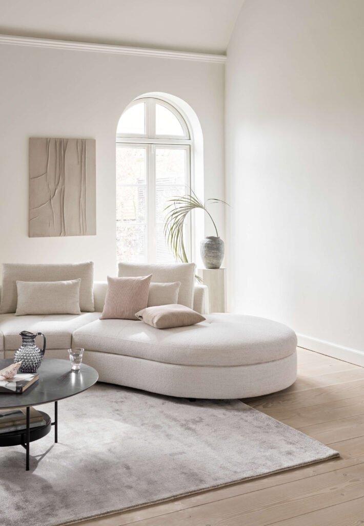Bergamo sofa in white Lazio